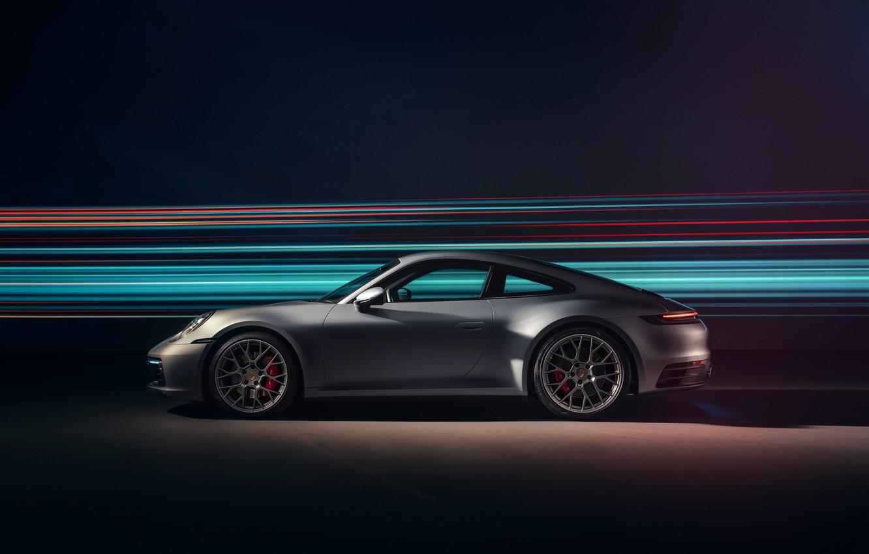 Photo wallpaper 911, Porsche, side view, Carrera 4S, 2019