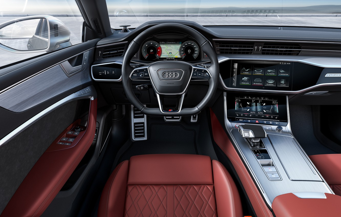 Photo wallpaper Audi, TDI, salon, Sportback, Audi S7, 2019