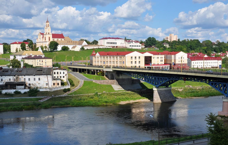 Photo wallpaper bridge, Belarus, Grodno, brewery