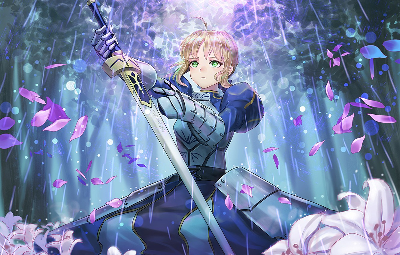 Wallpaper Look Girl The Saber Fate Stay Night Fate Stay
