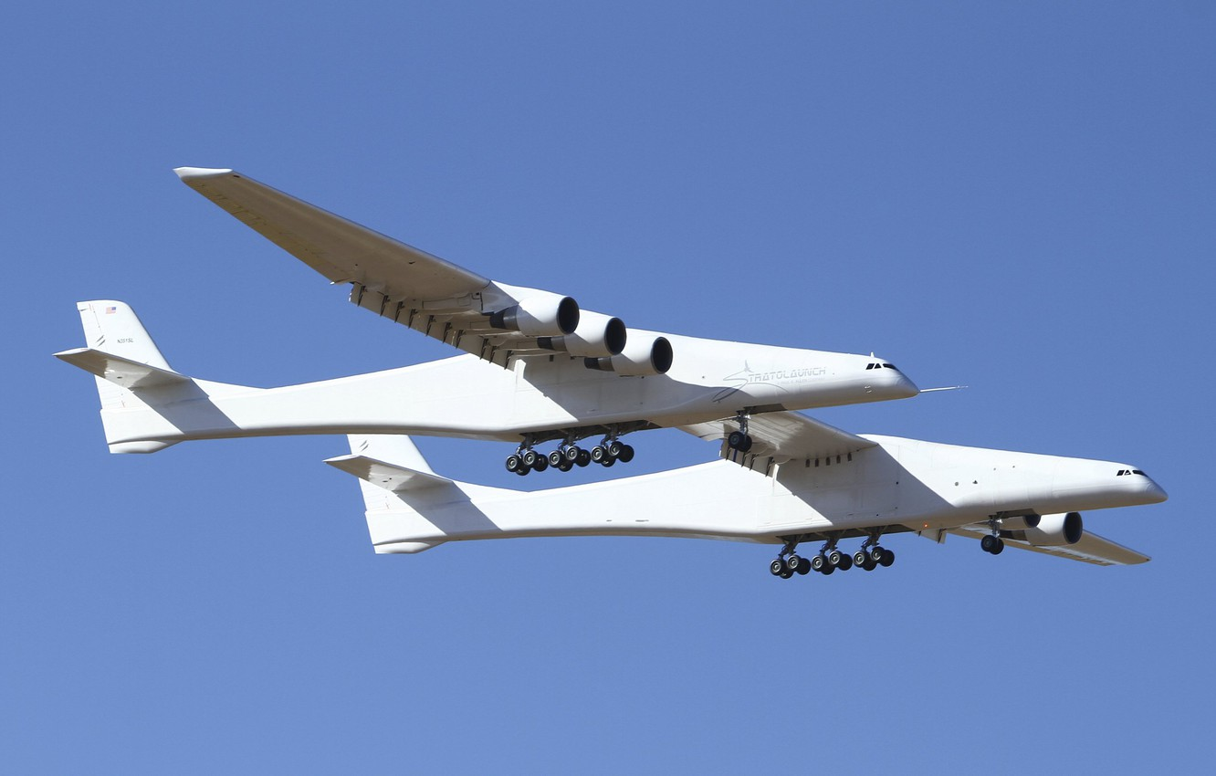 Photo wallpaper Chassis, Stratolaunch, Stratolaunch Model 351, Stratolaunch Systems, The aircraft carrier