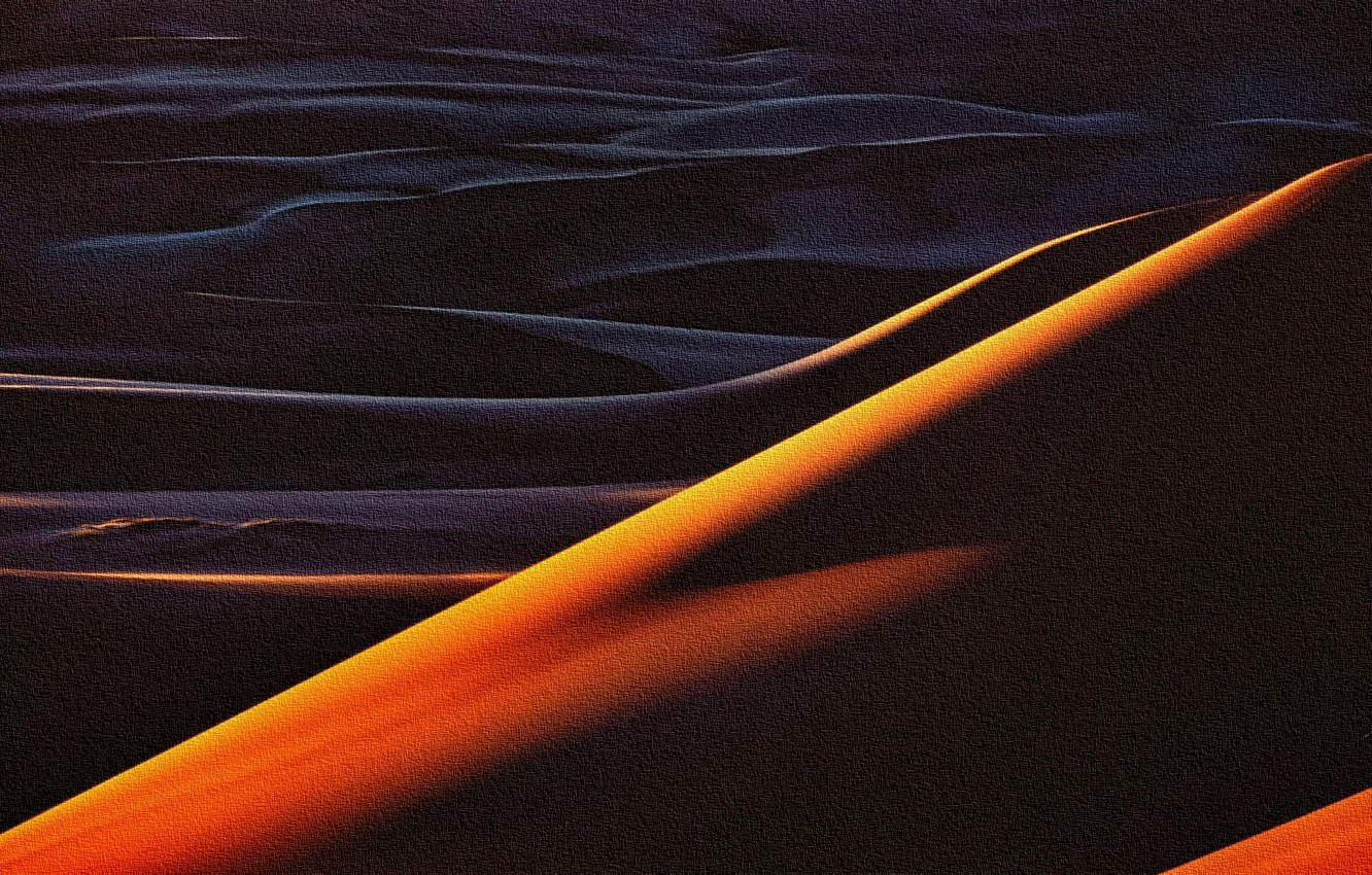 Photo wallpaper abstraction, the dunes, rendering, Sands, acrylic, painting on canvas, the reproduction is the work of …