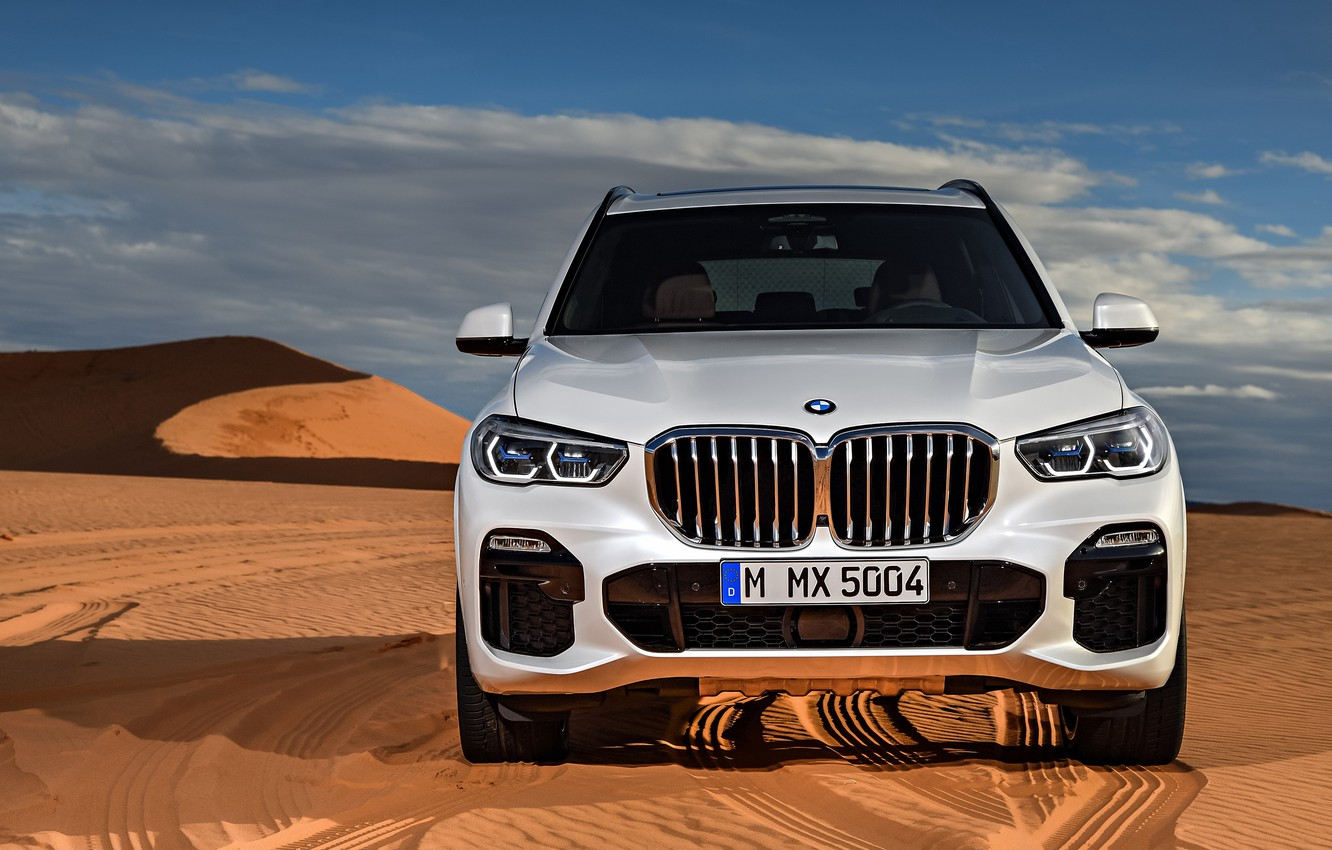 Photo wallpaper BMW, front view, 2018, Sport, crossover, X5 M, XDrive30d