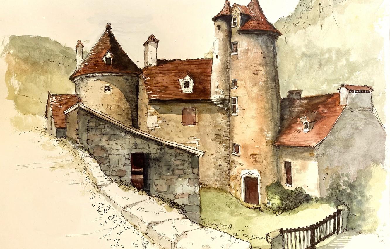 Photo wallpaper 'occitanie, Arrondissement de Figeac, Autoire