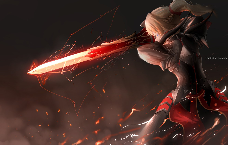 Photo wallpaper girl, sword, armor, Fate - Apocrypha, Fate Apocrypha