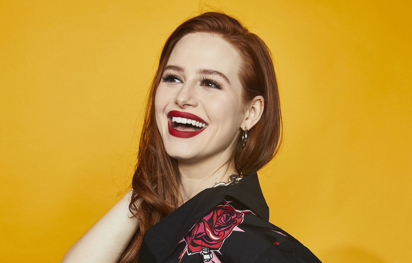 Photo wallpaper actress, red, celebrity, Madelaine Petsch
