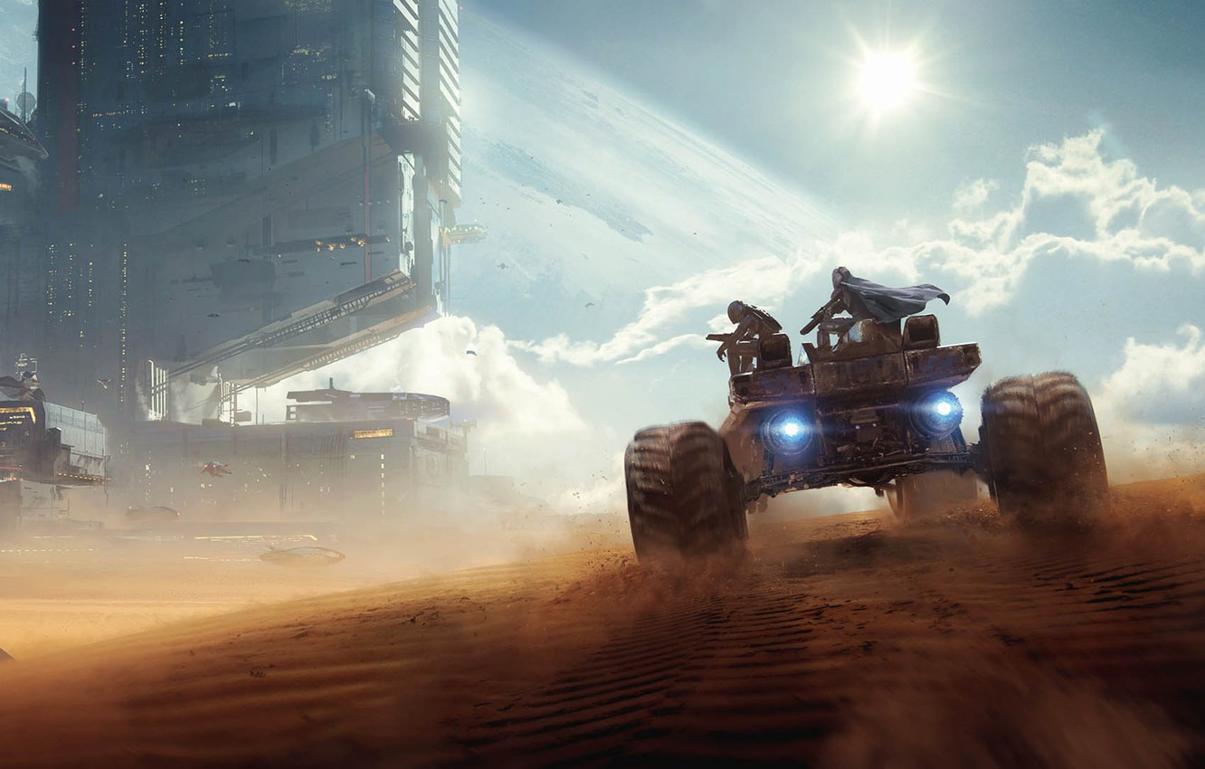 Photo wallpaper desert, bounty hunters, Bounty Hunters, Wojtek Fus