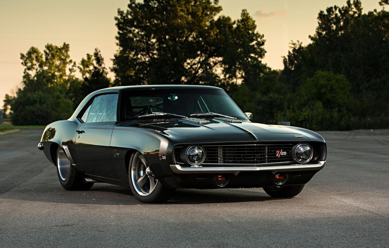 Photo wallpaper Chevrolet, Camaro, Muscle car, Custom, Vehicle