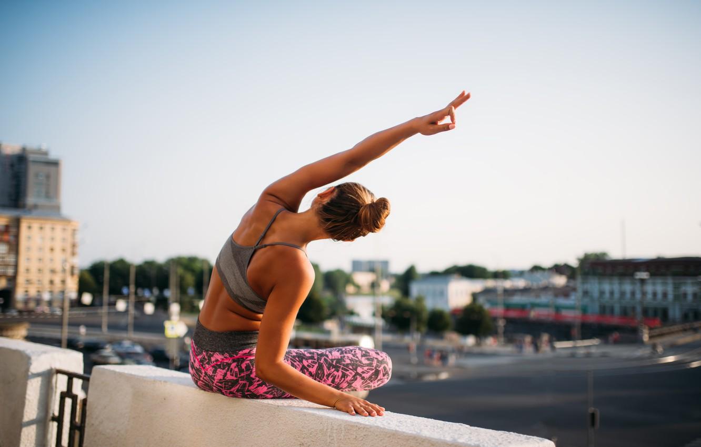 Photo wallpaper yoga, posture, elongation