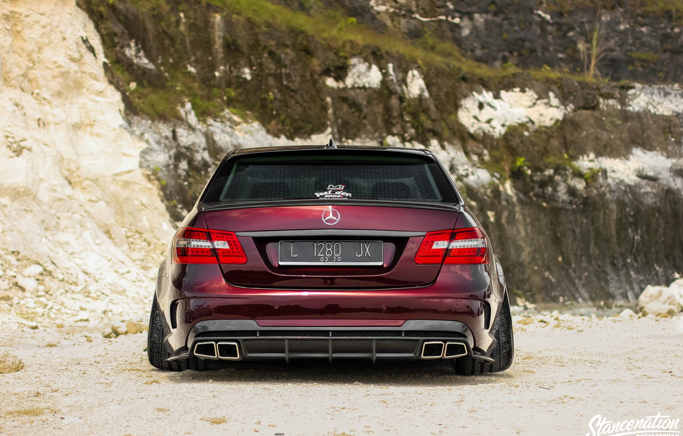 Photo wallpaper Car, Ass, Tuning, W212, Mercedes - Benz, E300