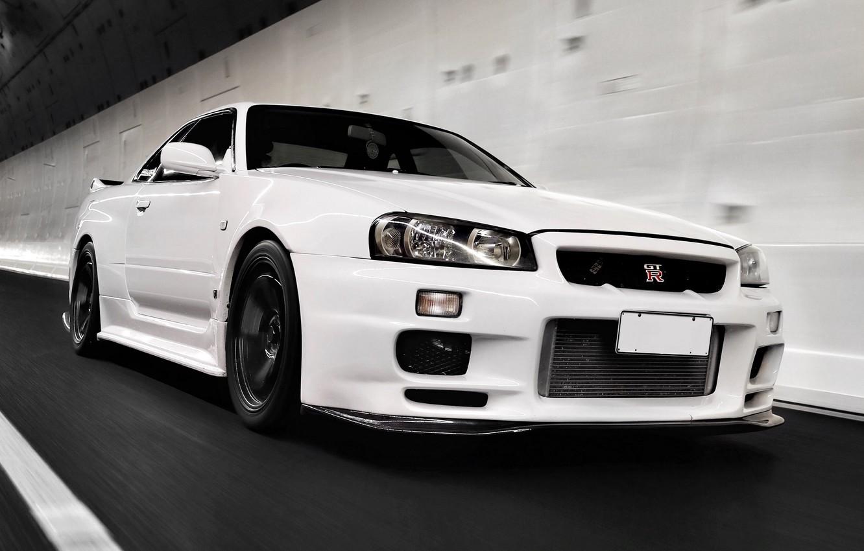 Photo wallpaper white, speed, nissan, Nissan, gt-r, nissan gt-r
