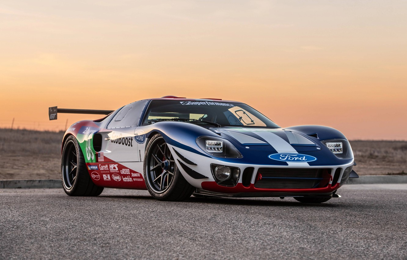 Photo wallpaper sunset, Ford, the evening, 2018, GT40, Superformance, SEMA 2018, Future GT Forty