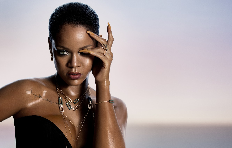 Photo wallpaper decoration, tattoo, Singer, Rihanna, nails, Rihanna, singer
