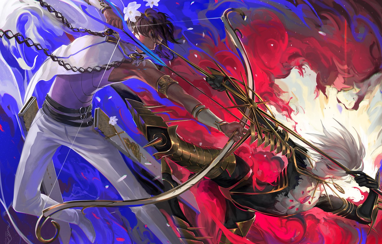 Photo wallpaper arrows, guys, arrows, Fate / Grand Order, The destiny of a great campaign
