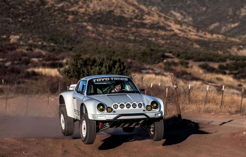 Photo wallpaper jump, 911, Porsche, 964, 2019, 911 Baja Prototype, Russell Built Fabrication