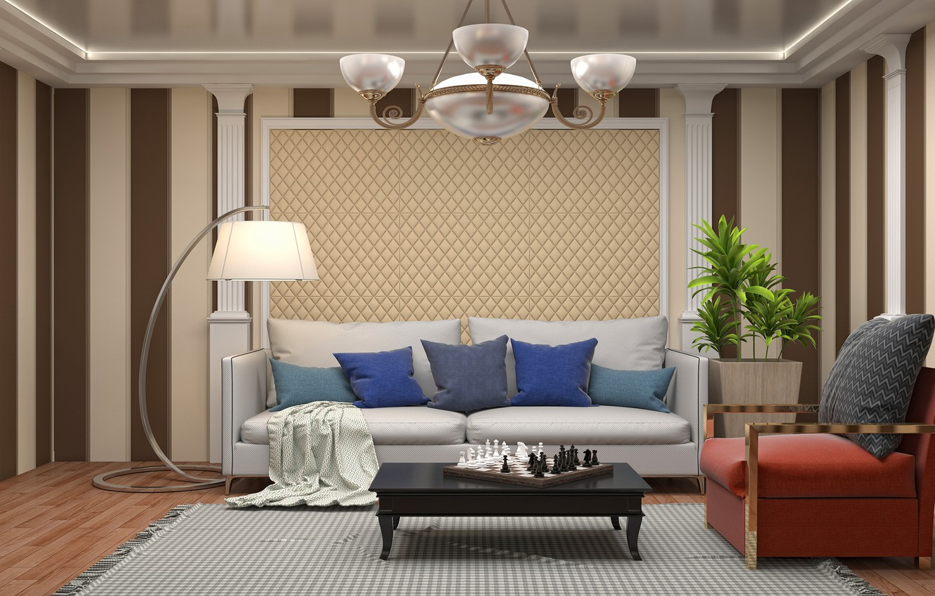Superb Wallpaper Sofa Furniture Pillow Chess Lamp Living Room Gmtry Best Dining Table And Chair Ideas Images Gmtryco