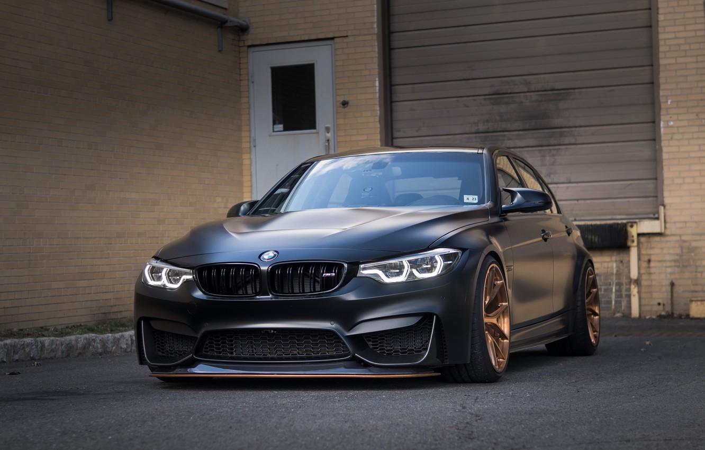 Photo wallpaper BMW, Black, F80, Sight, LED