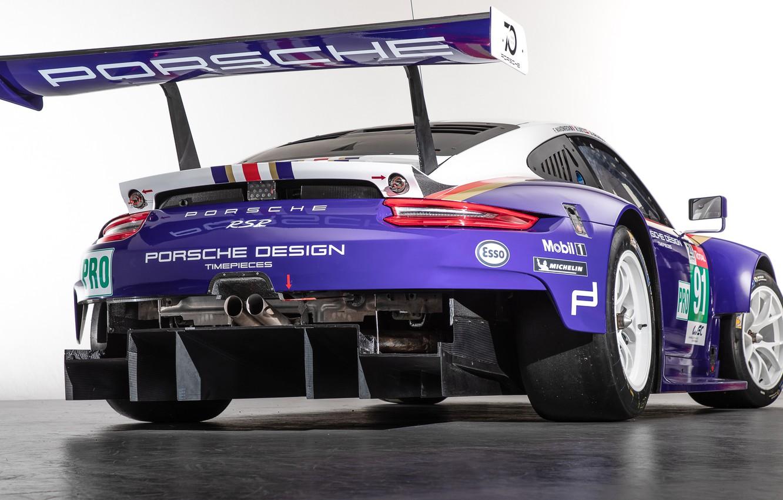 Photo wallpaper 911, Porsche, racing car, rear view, RSR, 2018
