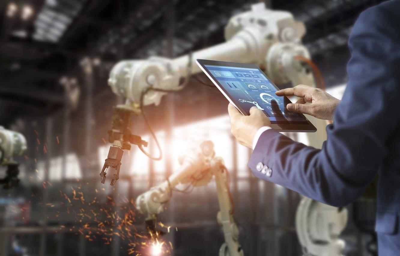 Photo wallpaper tablet, technology, display, robotics