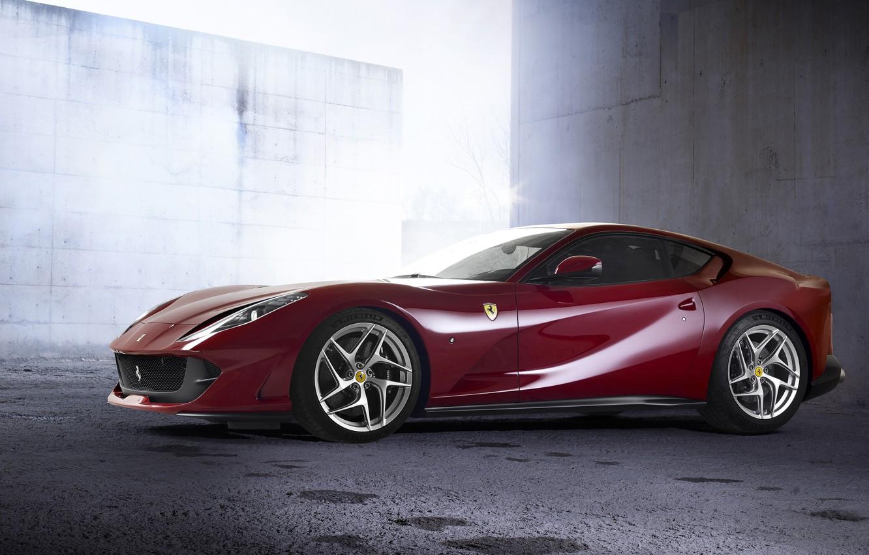 Photo wallpaper Ferrari, side view, 2018, Superfast, 812