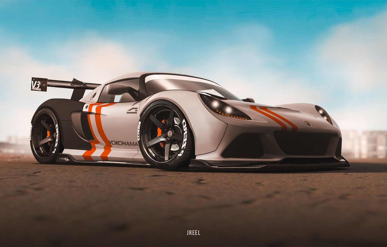 Photo wallpaper Auto, Machine, Car, Supercar, Rendering, Concept Art, Transport & Vehicles, by JREEL, JREEL, JGT Lotus …