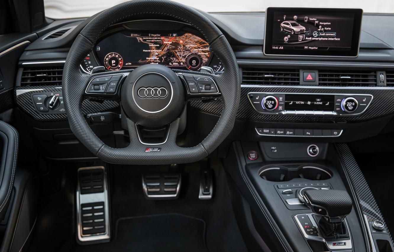 Photo wallpaper Audi, salon, 2018, universal, RS4, Before