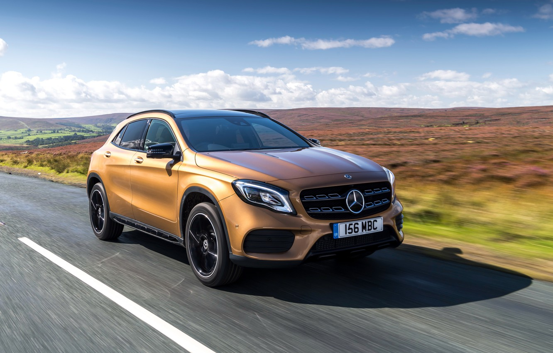 Photo wallpaper Mercedes-Benz, speed, GLA, 4MATIC, 220d, 2017, AMG Line