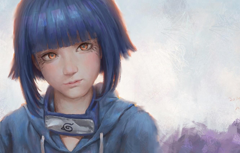 Photo wallpaper look, figure, girl, Naruto, Naruto, Hinata Hugo