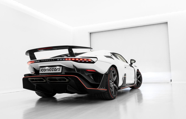 Photo wallpaper supercar, rear view, 2018, ItalDesign, Zerouno