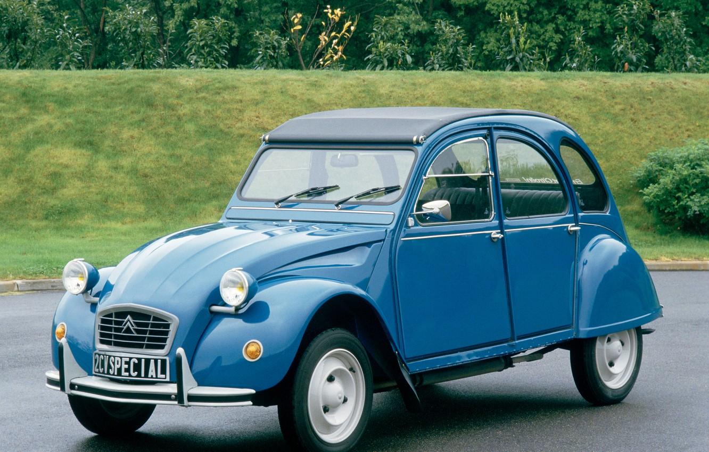 Photo wallpaper blue, Citroën, Special, 2CV6, 1975–90