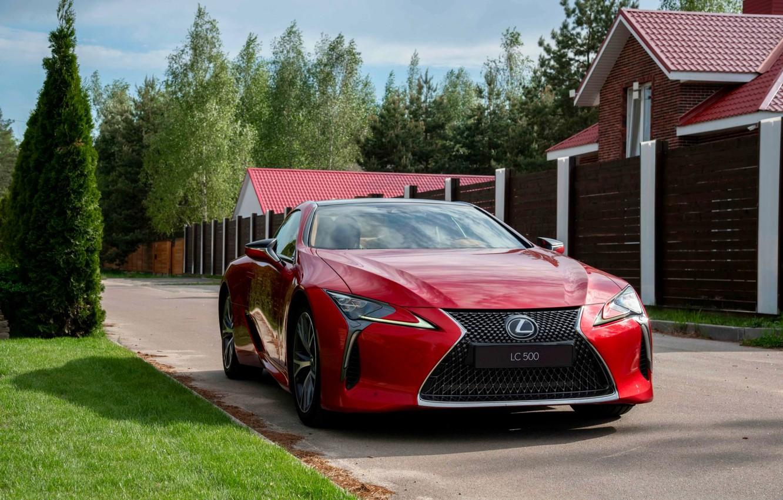 Photo wallpaper sports car, red car, лексус500