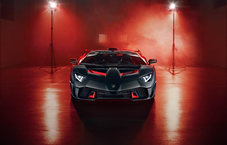 Photo wallpaper Lamborghini, supercar, front view, 2018, SC18
