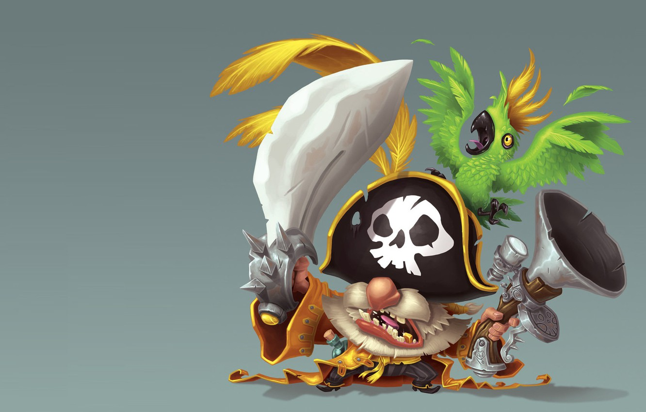 "Photo wallpaper art, pirate, parrot, children's, Jean-Baptiste ""Djib"" Reynaud, No quarter !!"