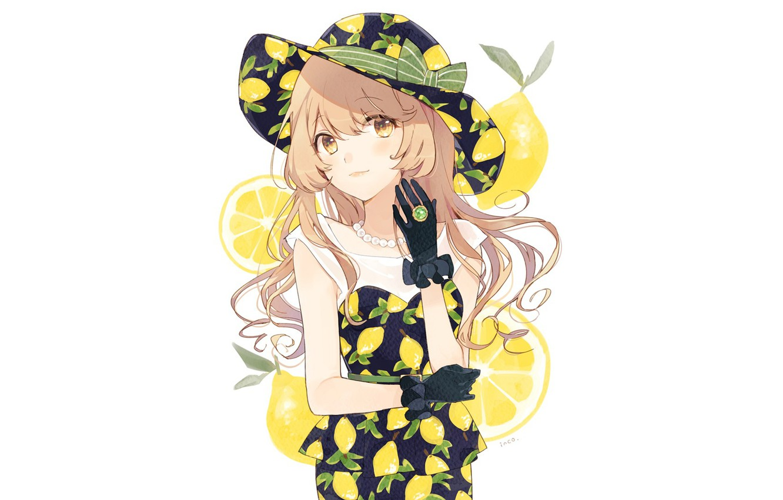 Photo wallpaper girl, gloves, hat