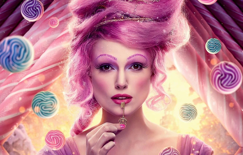 Photo wallpaper girl, makeup, key, fantasy, hairstyle, Keira Knightley, Keira Knightley, beauty, poster, The Nutcracker and the ...