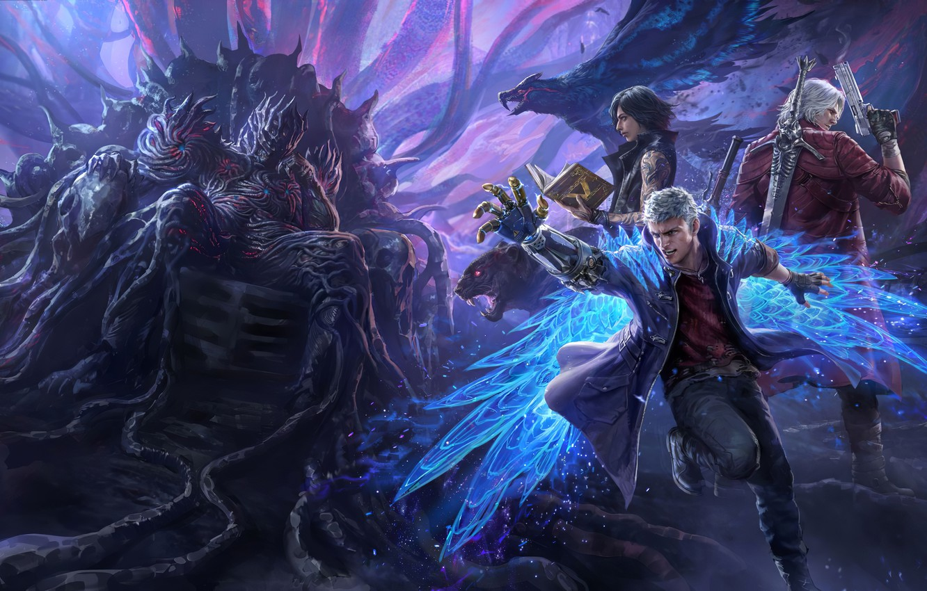 Wallpaper Devil May Cry 5 Nero Devil May Cry Dante Images For