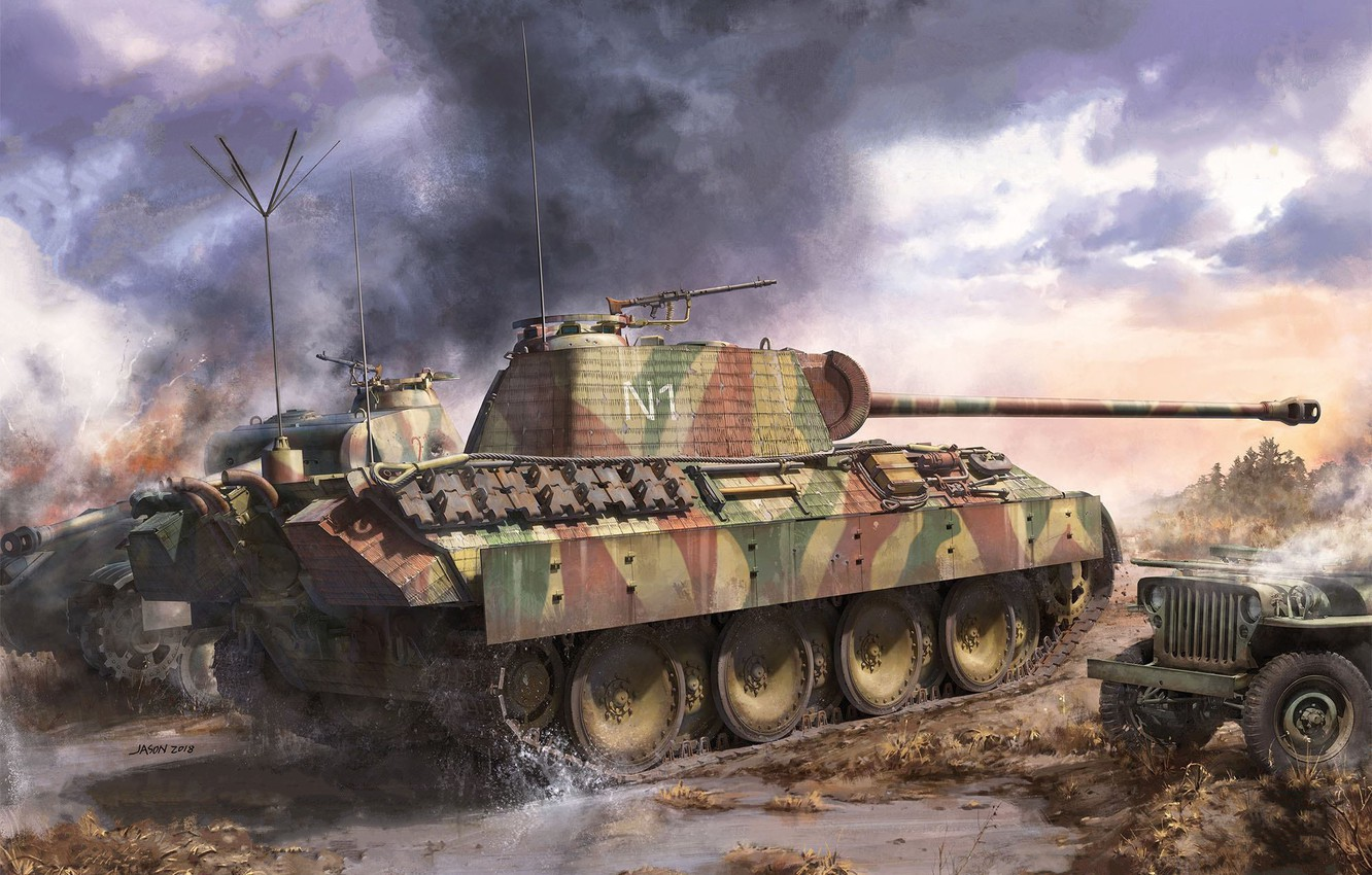 Photo wallpaper Germany, Panther, tank, the Wehrmacht, average, panzerwaffe, Pz.Kpfw.V Panther A Late, Sd.Car.171