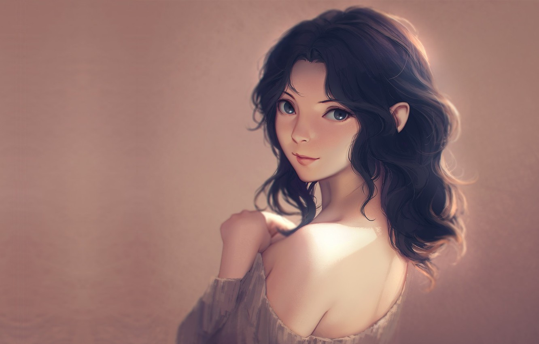 Photo wallpaper girl, portrait, anime, art, Miura N315, Kaoru