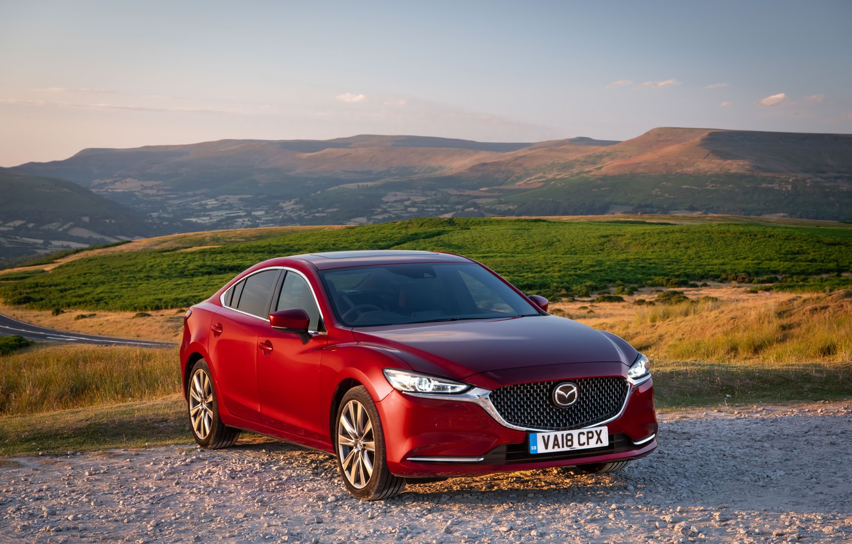 Photo wallpaper Mazda, Mazda 6, red, 2018