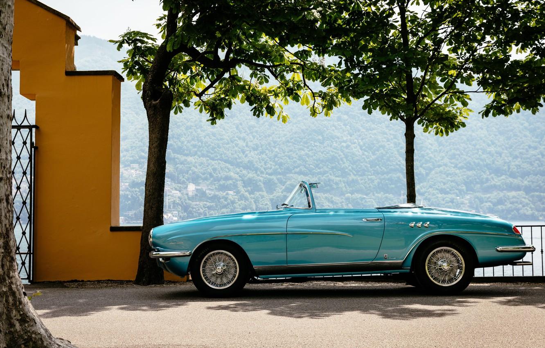 Photo wallpaper Blue, Vintage, 1955, Alfa Romeo 1900 C, Super Sprint La Fleche