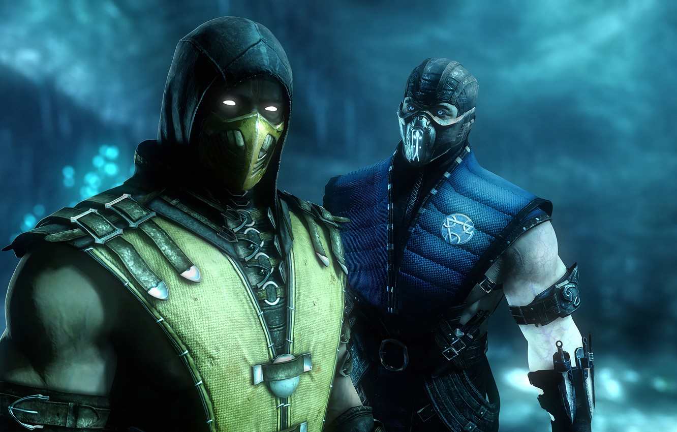 Wallpaper Rendering Mortal Kombat Scorpion Ninja Sub