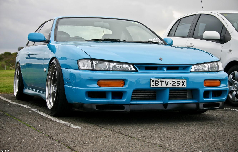 Photo wallpaper Blue, JDM, Nissan Silvia S14