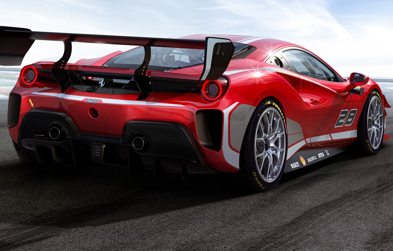 Photo wallpaper Ferrari, sports car, 488, Ferrari 488, Challenge Evo