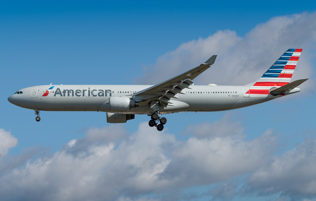 Photo wallpaper Airbus, American Airlines, A330-300