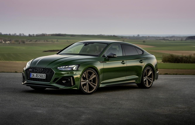 Photo wallpaper asphalt, Audi, RS 5, 2020, Sportback, RS5 Sportback