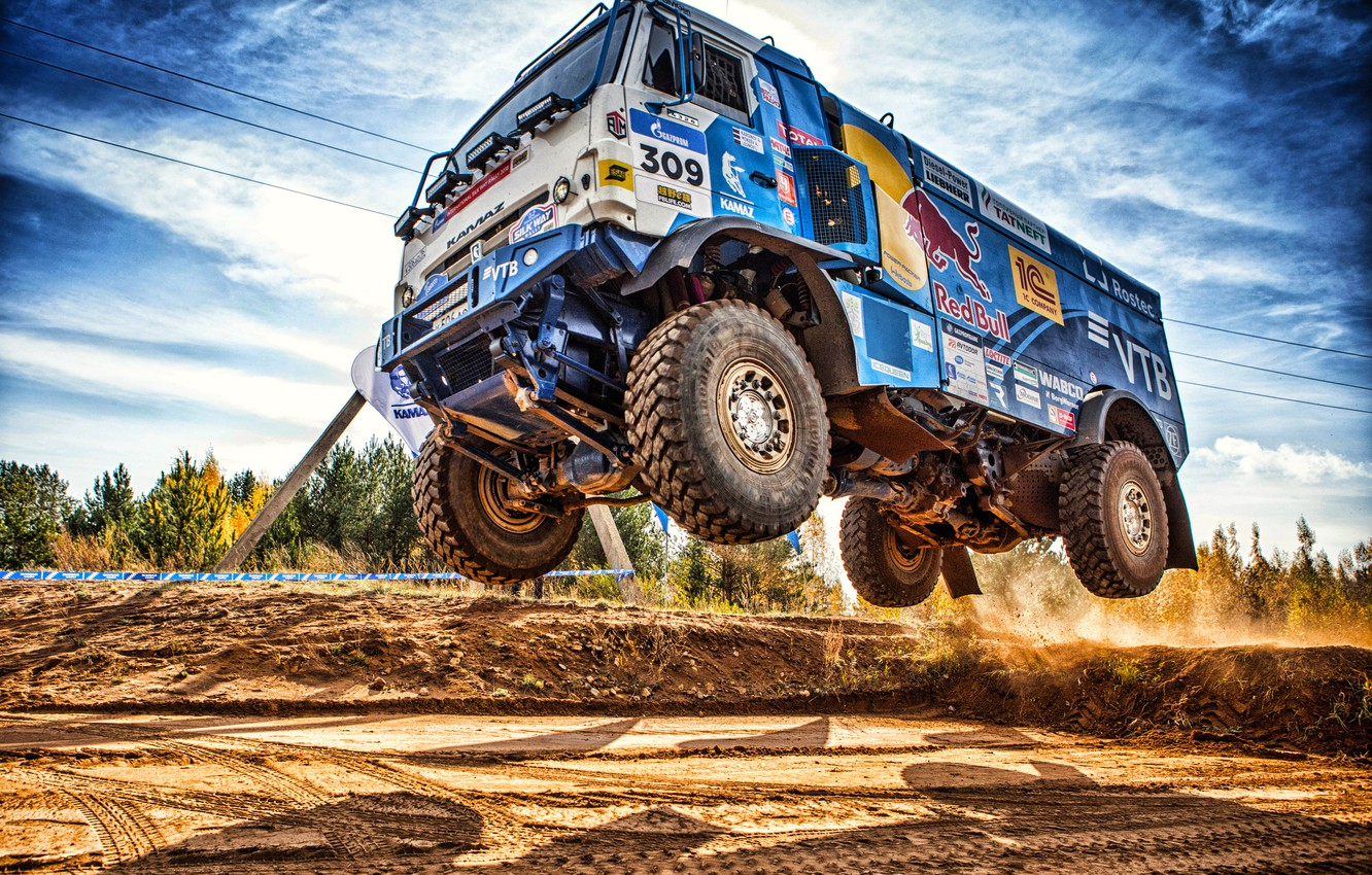 Photo wallpaper Sport, Machine, Speed, Truck, Race, Master, Russia, Kamaz, Rally, Dakar, KAMAZ-master, Dakar, Rally, KAMAZ, The …