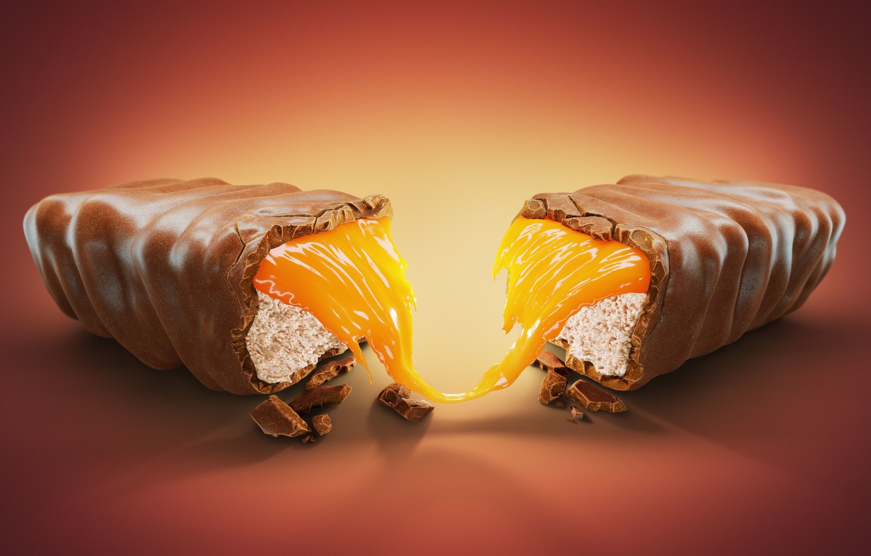 Photo wallpaper Chocolate, Art, Food, Chocolate, Illustration, Chocolate, by Stanislav Landgren, Bar, Stanislav Landgren, Chocolate bar, Chocolate …