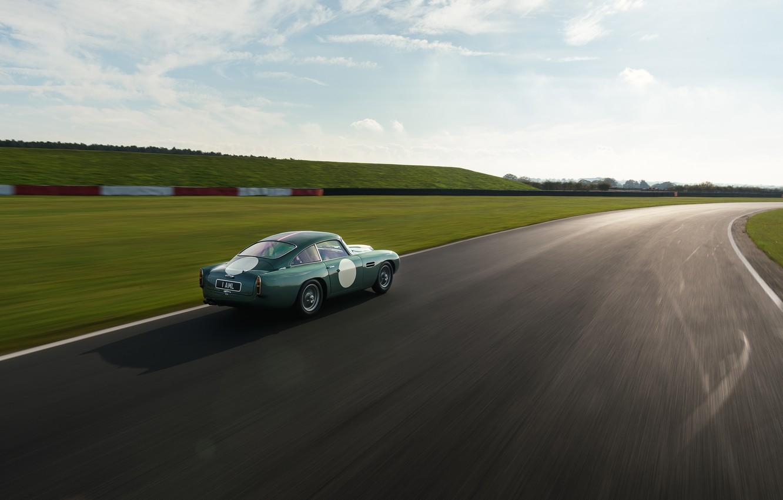 Photo wallpaper Aston Martin, Sunset, Speed, Track, Classic, 2018, Classic car, 1958, DB4, Sports car, Aston Martin …