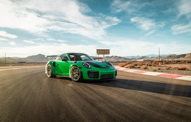 Photo wallpaper 911, Porsche, Green, GT3, VAG