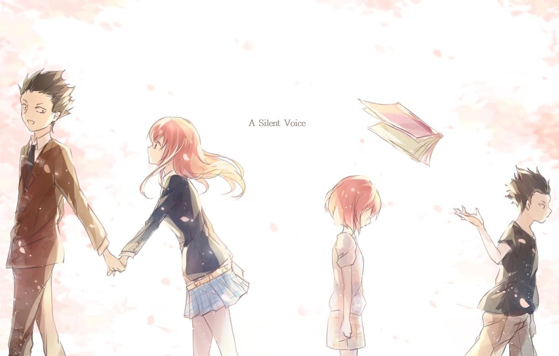 Photo wallpaper girl, children, Anime, guy, 2016, You no Katachi, A Silent Voice, Form Voice